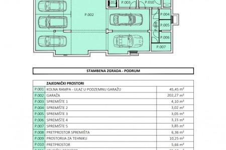 Zadar - Borik - Novogradnja!! Ekskluzivan TOP objekt s 5 stanova - prizemlje 63,23m2